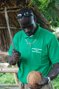 Eddison: sweet, full of knowledge about Dominica, and really good at using a machete!
