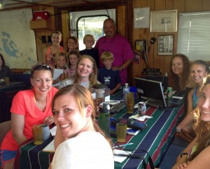 The crew and students aboard r/v Coral Reef